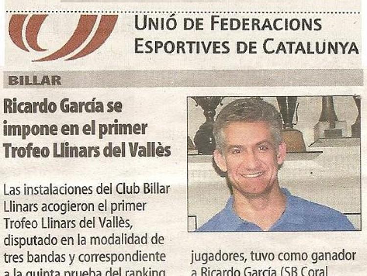 Ricardo García guanya el 1r. Trofeu de Llinars