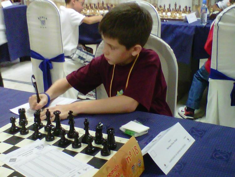 Sergio Martínez participa en el Camp. Esp. Sub-10