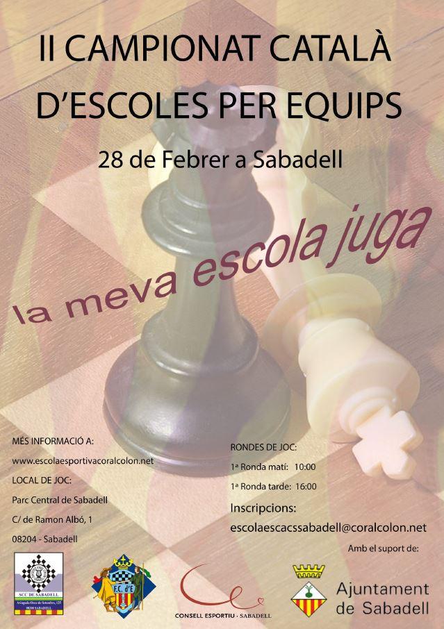 (DIPTIC) II CAMPIONAT CATALÀ D'ESCOLES PER EQUIPS