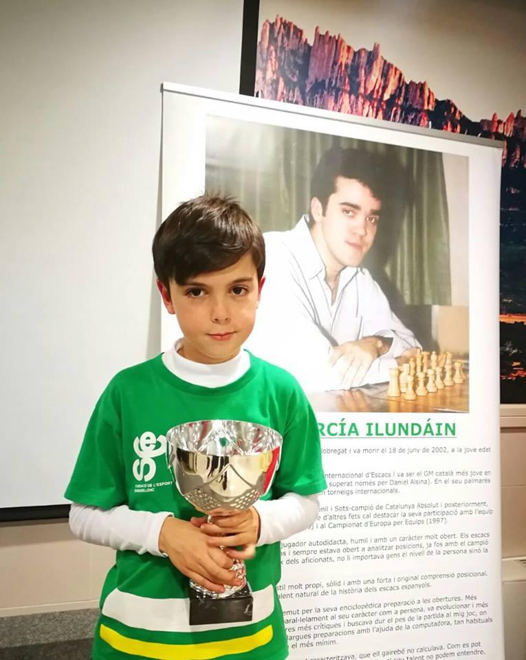 Daniel Salinas  Campió de Catalunya d'Escacs Actius