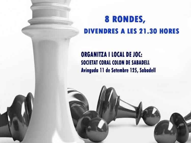 Obert 2020 Societat Coral Colon de Sabadell